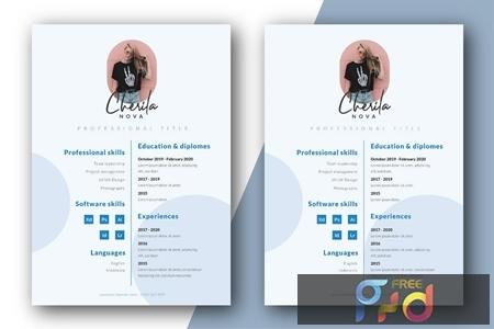 Minimalist CV Resume Template YJ9Q83L 1