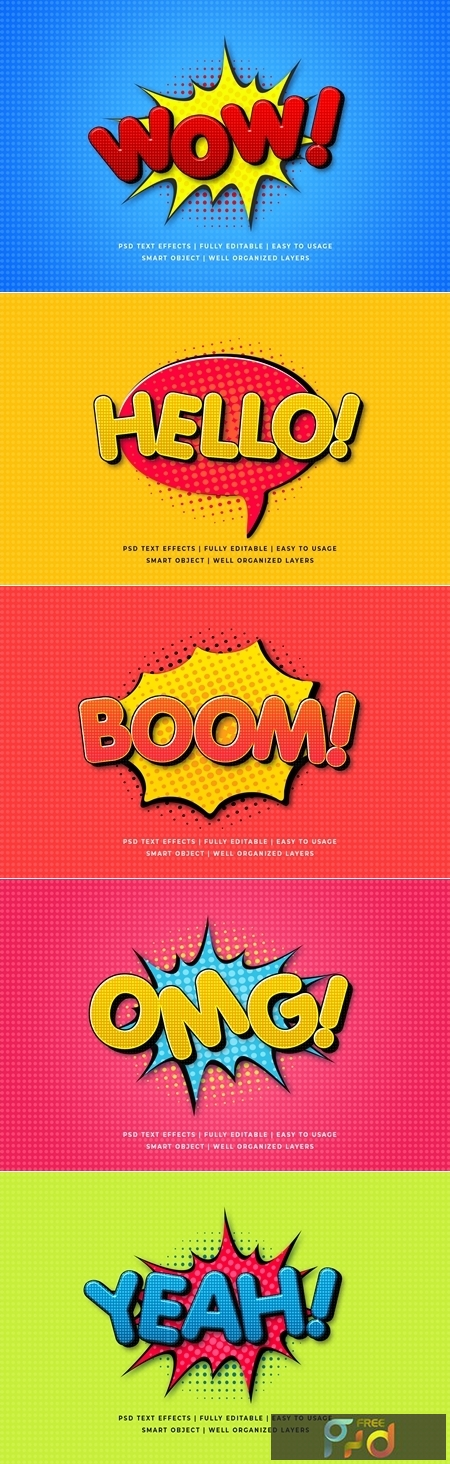 Comic Speech 3d Text Style Effect Mockup 26054619 1