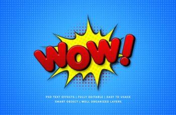 Comic Speech 3d Text Style Effect Mockup 26054619 3