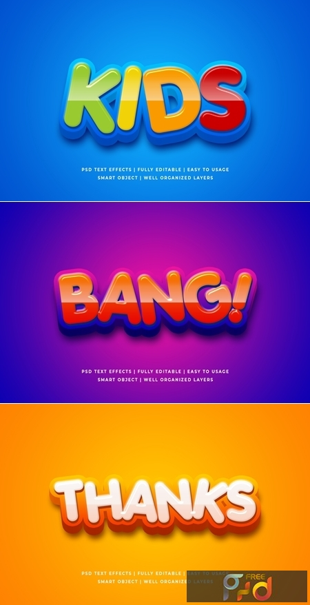 Cartoon Colorful 3d Text Style Effect Mockup 26054607 1