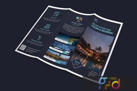 Hotel Trifold PSD Template N447HPJ 1
