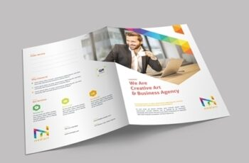 Presentation Folder Layout with Colorful Design Elements 329175031 10