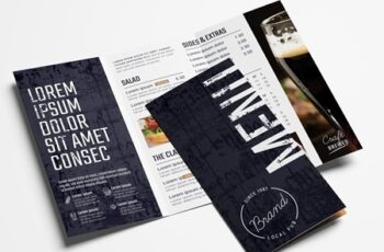 Trifold Bar Menu Layout 329398791 8