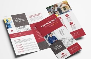 Trifold Brochure Layout for Construction Professionals 329398692 3
