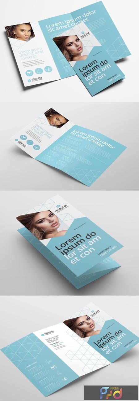 Trifold Brochure Layout for Cosmetic Clinics 329398714 1