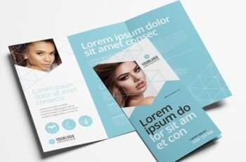Trifold Brochure Layout for Cosmetic Clinics 329398714 2