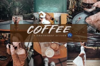 6 Coffee Photoshop Actions, ACR and LUTs 3674514 2
