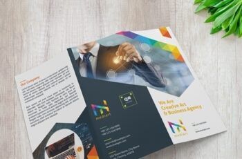 Trifold Brochure Layout with Colorful Design Elements 329175218 9