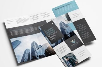 Trifold Brochure Layout with Investment Theme 329398902 5