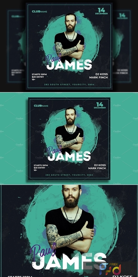 Dj Flyer Template 4586037 1