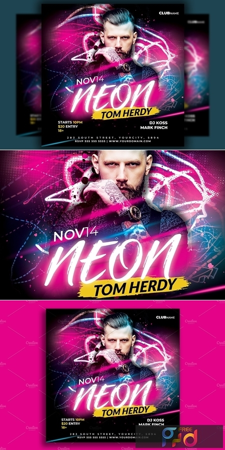 Dj Party Flyer Template 4586078 1