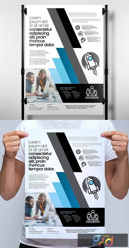 Banner Layout with Blue Diagonal Stripe Elements 329609953 1