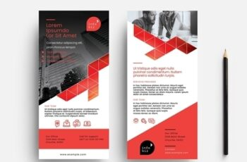 Flyer Layout with Orange Geometric Elements 330835790 5