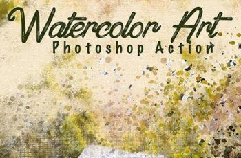 Watercolor Art Photoshop Action 25760857 3