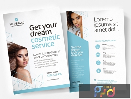 Pale Blue and White Flyer Layout with Cosmetic Procedure Illustrations 330835529 1