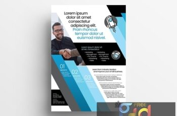 Poster Layout with Blue Diagonal Stripe Elements 329609948 4