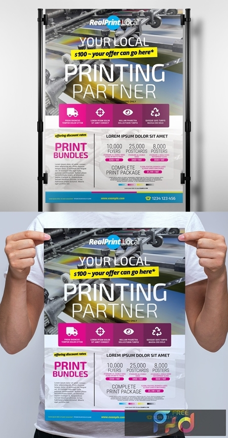 Poster Layout with Bright Cmyk Elements 330835678 1