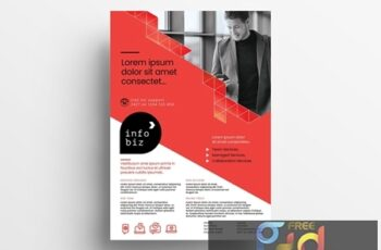 Red and White Business Flyer Layout with Geometric Elements 330835692 2
