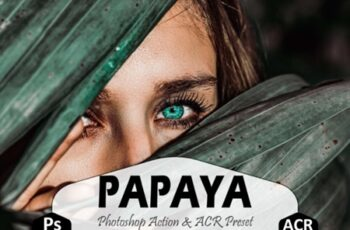 Papaya Photoshop Actions and ACR Presets 1668550 6