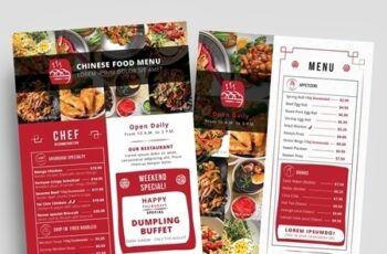 Red and White Takeout Menu Layout 330835512 2