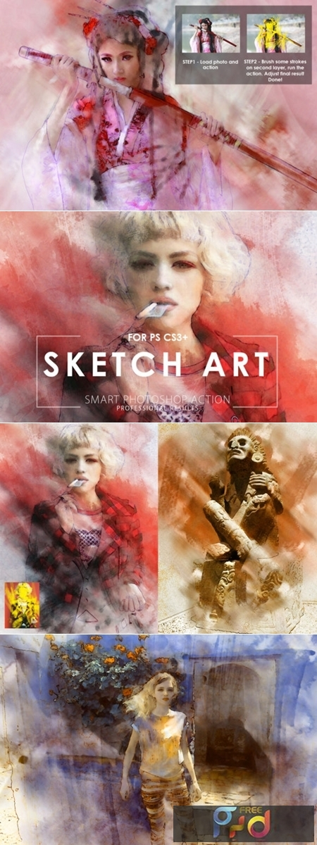 Sketch Art Photoshop Action 1723468 1