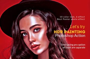 HDR Painting Photoshop Action 4518633 7