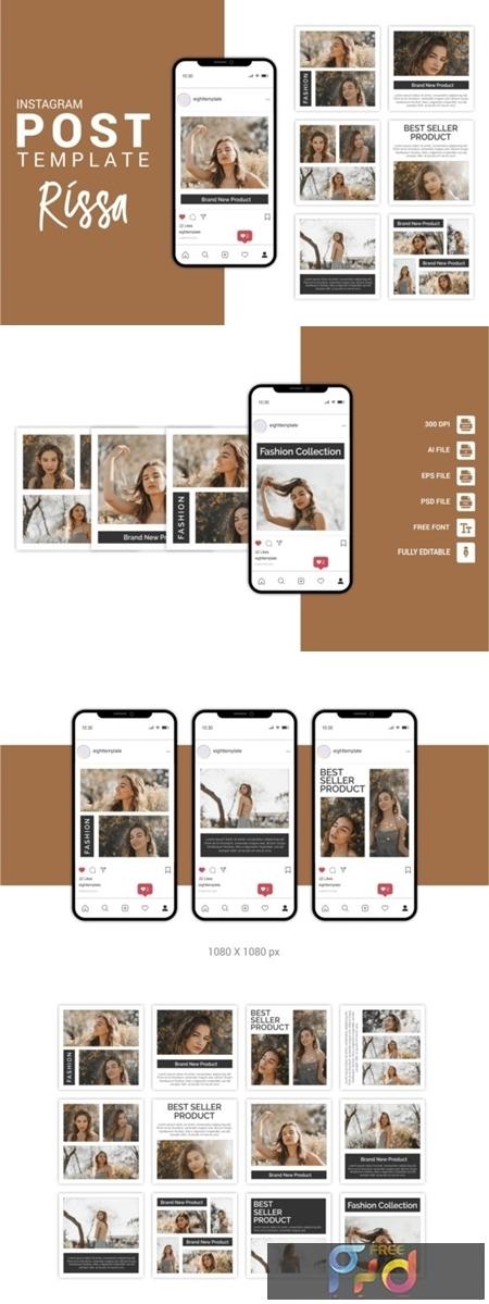 Rissa - Fashion Instagram Post Template 3656095 1