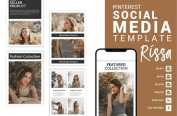 Rissa - Fashion Pinterest Templates 3656097 6