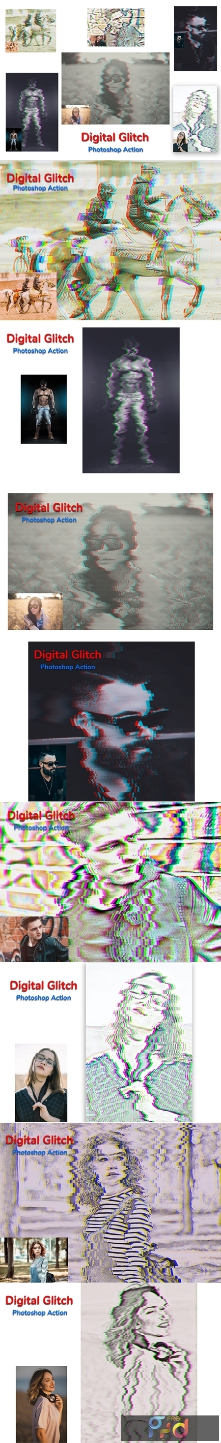 Digital Glitch Photoshop Action 4534753 1