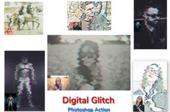 Digital Glitch Photoshop Action 4534753 3