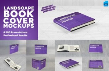 Realistic Landscape Book Cover Mockups 3684664 13