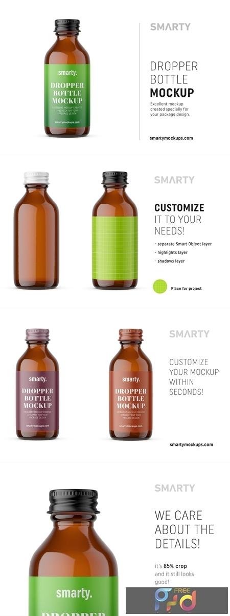 Amber dropper bottle mockup 4658394 1