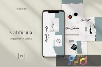 California Instagram Post & Stories MENYEU4 6