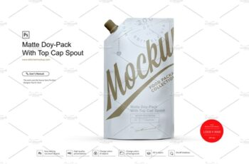 Matte Doy-Pack With Top Cap 4041051 4