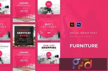 Furniture Social Media Post Template KCDT65R 6