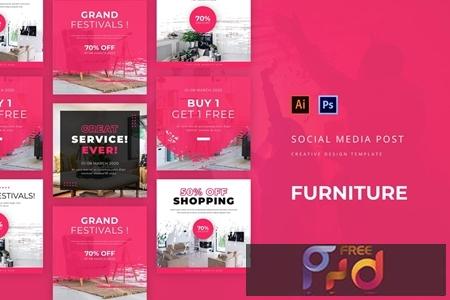Furniture Social Media Post Template KCDT65R 1