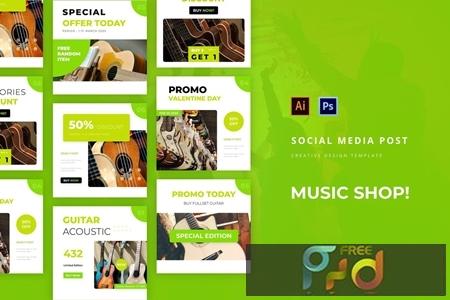 Music Shop Social Media Post AD222CE 1