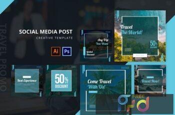Travel Social Media Post Template v2 RDSVYJ7 8
