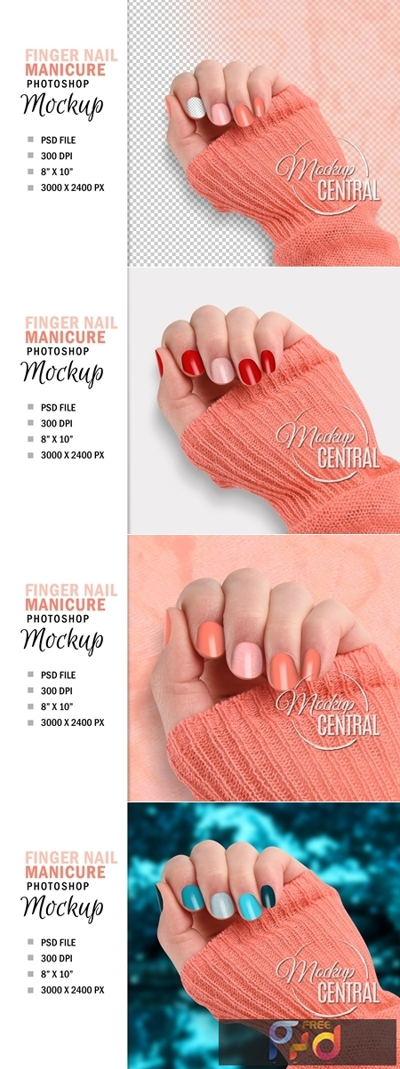 Finger Nail Mockup, Beauty Manicure 4708841 1