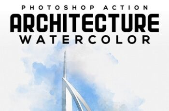 Architecture Watercolor Photoshop Action 25914179 5