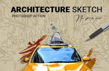 Architecture Sketch Photoshop Action 25802455 5