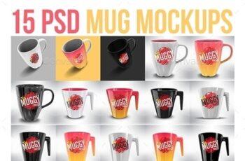 Photorealistic 15 PSD Mockup Mug Set 22658898 3