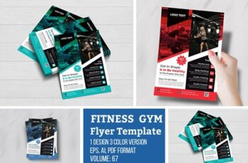 Modern fitness gym flyer Template 4691672 3