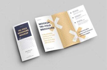 7 Mockups Leafleat DL Trifold Brochure 26080549 12