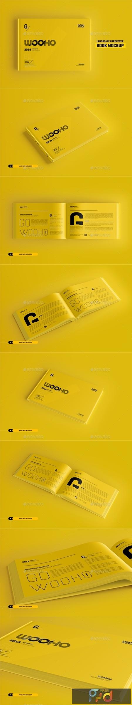 Landscape Book Mockup Hardcover 25692386 1