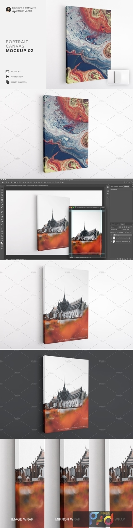 Portrait Canvas Ratio 2x3 Mockup 02 4637526 1