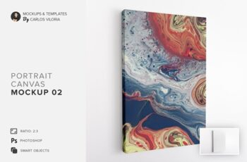 Portrait Canvas Ratio 2x3 Mockup 02 4637526 4