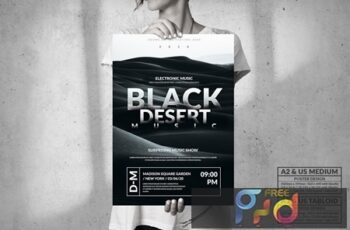 Black Desert Music Event - Big Party Poster Design 7MEDWM9 6