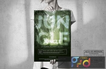 Dark Jungle Music Event - Big Party Poster Design G9CG2FF 15