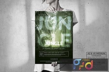 Dark Jungle Music Event - Big Party Poster Design G9CG2FF 1